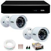 Kit 2 Câmeras de Segurança Full HD 1080p Giga Security GS0029  + DVR Giga Security 4MP + Acessórios
