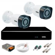 Kit 2 Câmeras de Segurança Full HD 1080p Giga Security gs0271  + DVR Giga Security 2MP + Acessórios