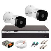 Kit 2 Câmeras de Segurança Full HD 1080p Intelbras VHD 1220B IR + DVR Intelbras Full HD 4 Ch + Acessórios