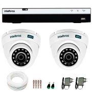 Kit 2 Câmeras de Segurança Full HD 1080p VHD 3220D G4 + DVR Intelbras Full HD + Acessórios