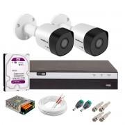 Kit 2 Câmeras de Segurança Full HD 1080p VHD 3230 B G6 + DVR Intelbras MHDX 3108 Full HD de 08 Canais + 1 HD Interno WD Purple 1TB Surveillance SATA III + Acessórios