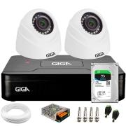 Kit 2 Câmeras de Segurança HD 720p Giga GS0019 Orion + DVR Giga Security Multi HD + HD 1TB + Acessórios