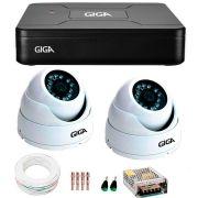 Kit 2 Câmeras de Segurança HD 720p Giga Security GS0015  + DVR Giga Security Multi HD + Acessórios