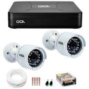 Kit 2 Câmeras de Segurança HD 720p Giga Security GS0016  + DVR Giga Security Multi HD + Acessórios