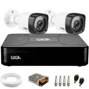 Kit 2 Câmeras de Segurança HD 720p Giga Security GS0020 + DVR Giga Security + Acessórios