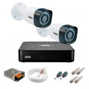 Kit 2 Câmeras de Segurança HD 720p Giga Security GS0018  + DVR Giga Security Multi HD + Acessórios