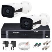 Kit Intelbras 2 Câmeras HD 720p VMH 3130 B + DVR Intelbras + Acessórios