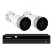 Kit 2 Câmeras Externas Wi-Fi Mibo Full HD 1080p IM5 Intelbras + 1 NVR Stand Alone 04 Canais 6MP NVD 1304 Intelbras