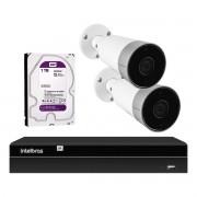 Kit 2 Câmeras Externas Wi-Fi Mibo Full HD 1080p IM5 Intelbras + 1 NVR Stand Alone 04 Canais 6MP NVD 1304 Intelbras + 1 HD Interno WD Purple 1TB Surveillance SATA III