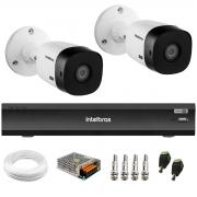 Kit 2 Câmeras Intelbras Bullet VHD 1420 B G6 4MP 2K Quad HD + Gravador de Vídeo Digital Com Inteligência Artificial iMHDX 3008 8 Canais + Acessórios
