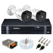 Kit 2 Câmeras de Segurança Full HD 1080p VHD 3230 B G6 + DVR Intelbras MHDX 1104 1080p de 4 Canais + Acessórios