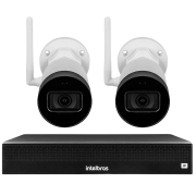 Kit 2 Câmeras IP Wifi Bullet Intelbras VIP 1230 W - 2Mp Sensor 1/2.7 Lente 3.6mm 30m IR IP67 + NVR Stand Alone 04 Canais 6MP Intelbras NVD 1304