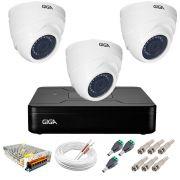 Kit Giga Security 3 Câmeras HD 720p GS0019 + DVR Lite + Acessórios