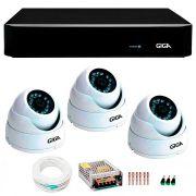 Kit 3 câmeras de segurança 4 megapixels ultra hd 2k giga security gs0041 + dvr giga security 4mp + acessórios