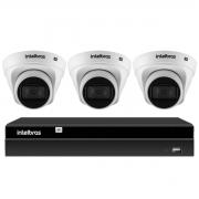 Kit 3 Câmeras de Segurança Dome Intelbras Full HD 1080p VIP 1230 D G2 + Gravador Digital de Vídeo NVR NVD 1404 Intelbras - 4 Canais + App Grátis de Monitoramento