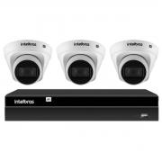 Kit 3 Câmeras de Segurança Dome Intelbras Full HD 1080p VIP 1230 D G2 + Gravador Digital de Vídeo NVR NVD 1404 - 4 Canais Intelbras