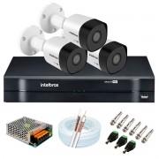 Kit 3 Câmeras de Segurança Full HD 1080p VHD 3230 B G6 + DVR Intelbras MHDX 1104 1080p de 4 Canais + Acessórios
