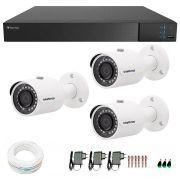 Kit 3 Câmeras de Segurança Full HD 1080p VHD 3230B IR Intelbras + DVR Tecvoz Full HD + Acessórios