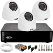 Kit 3 Câmeras de Segurança HD 720p Giga GS0019 Orion + DVR Giga Security + Acessórios