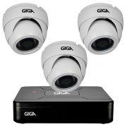 Kit HD 720p 03 Câmeras GS0021 + DVR Giga Security + Acessórios