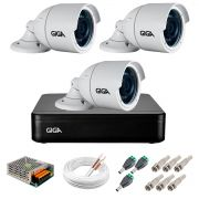 Kit 3 Câmeras GS0022 HD 720p Giga Security + DVR Giga Security Multi HD + Acessórios
