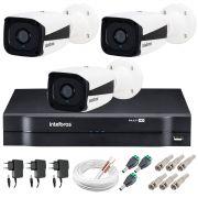 Kit Intelbras 3 Câmeras HD 720p VMH 3130 B + DVR Intelbras + Acessórios