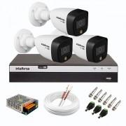 Kit 3 Câmeras de Segurança VHD 1220 B Full Color de Alta Definição Full HD 1080p + DVR Intelbras Full HD MHDX 3108 de 08 Canais + Acessórios