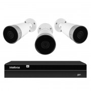 Kit 3 Câmeras Externas Wi-Fi Mibo Full HD 1080p IM5 Intelbras + 1 NVR Stand Alone 04 Canais 6MP NVD 1304 Intelbras