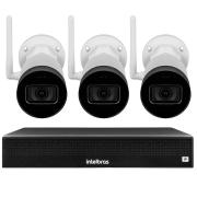 Kit 3 Câmeras IP Wifi Bullet Intelbras VIP 1230 W - 2Mp Sensor 1/2.7 Lente 3.6mm 30m IR IP67 + NVR Stand Alone 04 Canais 6MP Intelbras NVD 1304