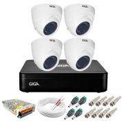 Kit Giga Security 4 Câmeras HD 720p GS0019 + DVR Lite + Acessórios