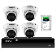 Kit 4 Câmeras de Segurança Dome Intelbras Full HD 1080p VIP 1230 D G2 +  Gravador Digital de Vídeo NVR NVD 1404 - 4 Canais Intelbras + HD 1TB