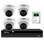 Kit 4 Câmeras de Segurança Dome Intelbras Full HD 1080p VIP 1230 D G2 + Gravador Digital de Vídeo NVR NVD 1404 - 4 Canais Intelbras + HD 2TB