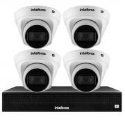 Kit 4 Câmeras de Segurança Dome Intelbras Full HD 1080p VIP 1230 D + NVR 1304 de 4 Canais IP+ App Grátis de Monitoramento