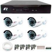Kit 4 Câmeras de Segurança 1080N  Focusbras FS-MDF2M + DVR Focusbras 1080N + Acessórios