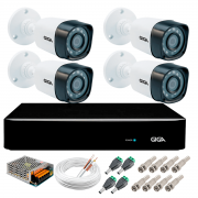 Kit 4 Câmeras de Segurança Full HD 1080p Giga Security gs0271  + DVR Giga Security 2MP + Acessórios