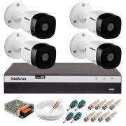 Kit 4 Câmeras de Segurança Full HD 1080p Intelbras VHD 1220B IR + DVR Intelbras Full HD 8 Ch + Acessórios