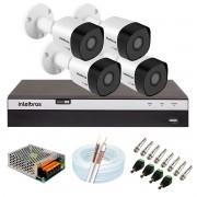 Kit 4 Câmeras de Segurança Full HD 1080p VHD 3230 B G6 + DVR Intelbras MHDX 3104 Full HD de 4 Canais + Acessórios