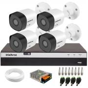 Kit 4 Câmeras de Segurança Full HD 1080p VHD 3230 B G6 + DVR Intelbras Full HD MHDX 3108 + Acessórios