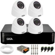 Kit 4 Câmeras de Segurança HD 720p Giga GS0019 Orion + DVR Giga Security + Acessórios