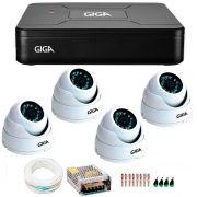 Kit 4 Câmeras de Segurança HD 720p Giga Security GS0015  + DVR Giga Security Multi HD + Acessórios