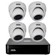 Kit HD 720p 04 Câmeras GS0021 + DVR Giga Security + Acessórios