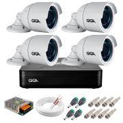 Kit 4 Câmeras GS0022 HD 720p Giga Security + DVR Giga Security Multi HD + Acessórios
