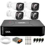 Kit 4 Câmeras de Segurança HD 720p Giga Security GS0020 + DVR Giga Security + Acessórios
