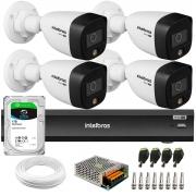 Kit 4 Câmeras de Segurança VHD 1220 B Full Color Full HD 1080p + Gravador iMHDX 3008 8 Canais + HD 1TB