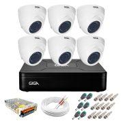 Kit Giga Security 6 Câmeras HD 720p GS0019 + DVR Lite + Acessórios