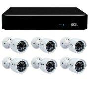 Kit 6 Câmeras de Segurança 4 Megapixels Ultra HD 2k Giga Security GS0042  + DVR Giga Security 4MP + Acessórios