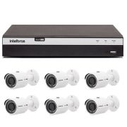 Kit 6 Câmeras de Segurança 4MP 2K Intelbras VHD 3430 B + DVR Intelbras 4K + Acessórios