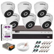 Kit 6 Câmeras VHD 3220 D G5 + DVRIntelbras + HD 1TB para Armazenamento + App Grátis de Monitoramento, Câmeras Full HD 1080p 20m Infravermelho de Visão Noturna Intelbras + Fonte, Cabos e Acessórios