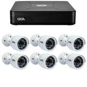 Kit 6 Câmeras de Segurança HD 720p Giga Security GS0016  + DVR Giga Security Multi HD + Acessórios