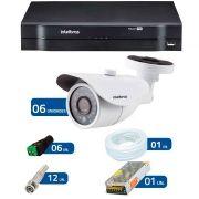 Kit 6 Câmeras de Segurança HD 720p Intelbras VM 3120 IR G4 + DVR Intelbras Multi HD + Acessórios
